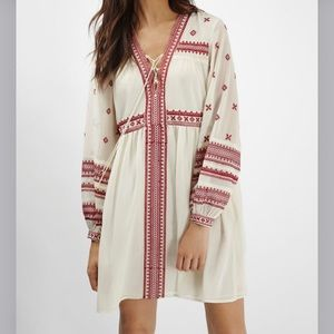 TopShop Embroidered Grecian Smock Dress Ivory 6